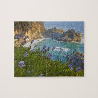 Scenic McWay Falls tumbles into the beach and Jigsaw Puzzle