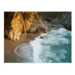 Scenic McWay Falls tumbles into the beach and Postcard
