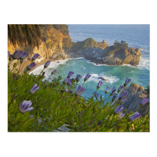 Scenic McWay Falls tumbles into the beach and Postcards