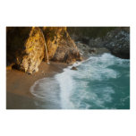 Scenic McWay Falls tumbles into the beach and Posters