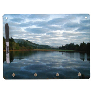 Scenic Morning Lake Sky Oregon Mist Photography Dry Erase Board With Keychain Holder