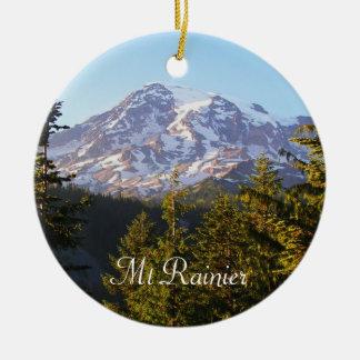 Scenic Mount Rainier Christmas Tree Ornaments