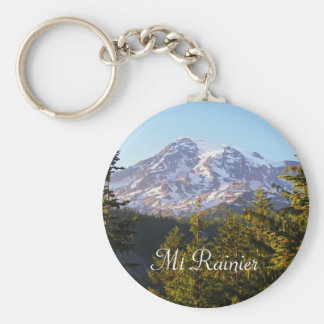 Scenic Mount Rainier Photo Keychain