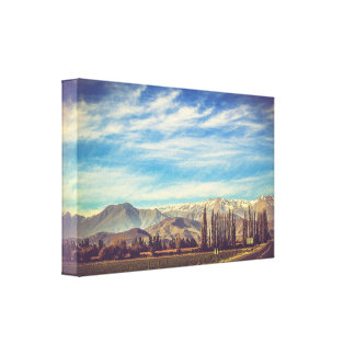Scenic Mountain Landscape in The Andes Canvas Print