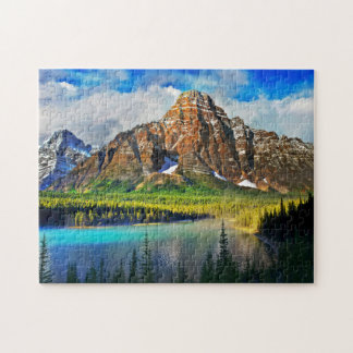 Scenic Mountain View Jigsaw Puzzle