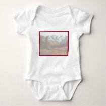 Scenic Mountain Wedding Invitation Set Baby Bodysuit