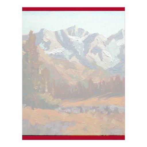 Scenic Mountain Wedding Invitation Set Personalized Flyer