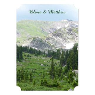 Scenic Mountain Wilderness Wedding Invitation