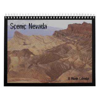 Scenic Nevada Pictorial 18mo Calendar