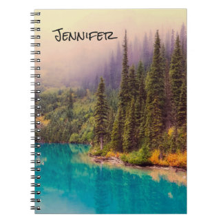 Scenic Northern Landscape Rustic Personalized Spiral Notebook