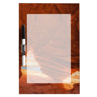 Scenic of eroded sandstone cave dry erase whiteboards