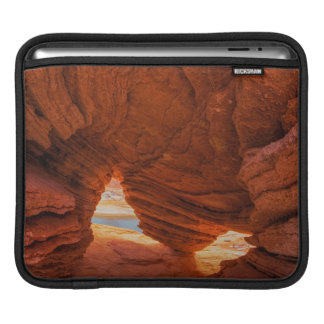 Scenic of eroded sandstone cave iPad sleeve