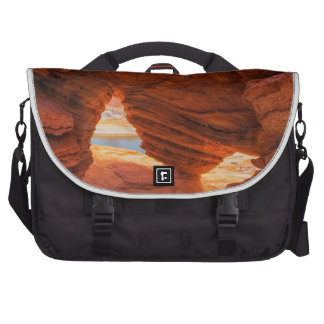Scenic of eroded sandstone cave laptop bag