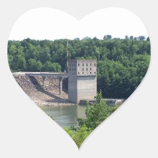 Scenic Overlook Heart Sticker
