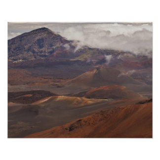 Scenic overview of mountain poster