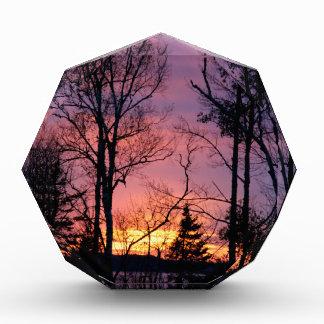 Scenic Pink and Orange Sunset Acrylic Award
