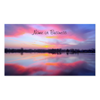 Scenic Pink Landscape Business Card
