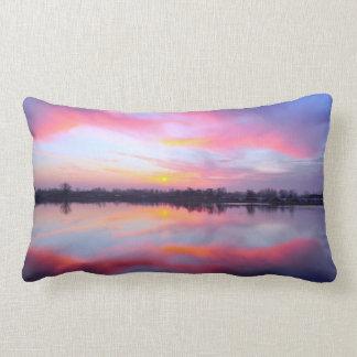 Scenic Pink Landscape Lumbar Pillow