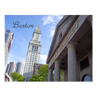 Scenic Postcard - Boston's Quincy Market