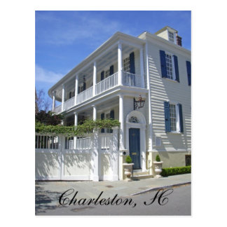 Scenic Postcard - Charleston Mansion