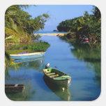 Scenic river near Ocho Rios in Jamaica Square Sticker