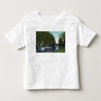 Scenic River with Canoe SceneEugene, OR Toddler T-shirt