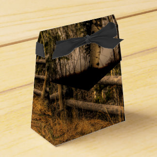 Scenic Rustic Fence in the Country artwork Favor Boxes