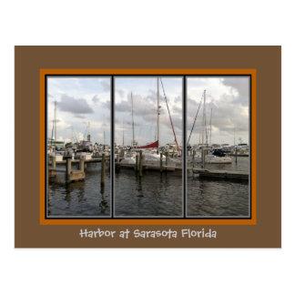 Scenic Sarasota Florida Marina Postcard