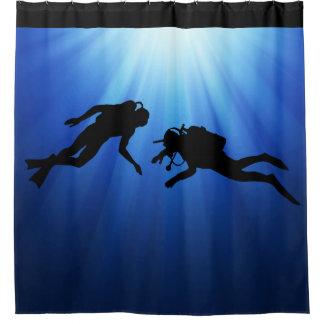 Scenic Scuba Divers Shower Curtain