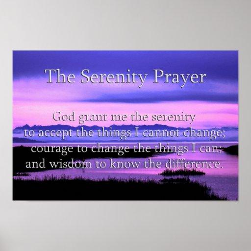 scenic serenity prayer poster