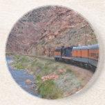 Scenic Series---Train Through the Gorge Sandstone Coaster