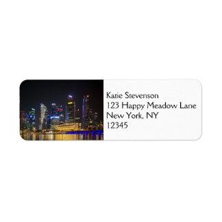 Scenic Singapore Skyline Label