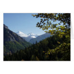 Scenic  Snowcapped Mountain Greeting Card