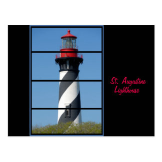 Scenic St Augustine Lighthouse Window Post Card
