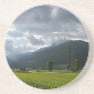 Scenic Summer in the Mountains Drink Coasters