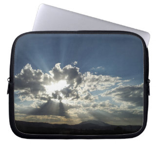 Scenic Sunshine Mountains Clouds Nature Laptop Computer Sleeve