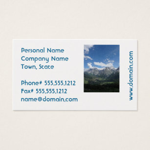 Switzerland business cards templates zazzle scenic switzerland business card colourmoves Image collections
