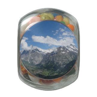 Scenic Switzerland Glass Candy Jar