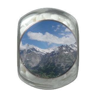 Scenic Switzerland Glass Jar