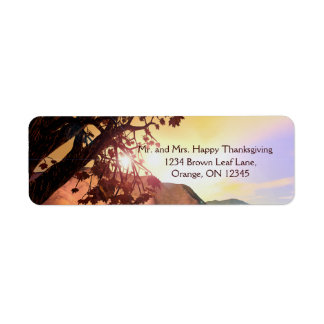 Scenic Thanksgiving Label