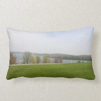 Scenic throw pillow