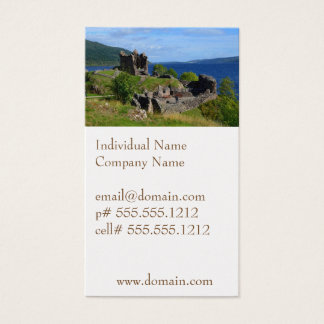Scenic Urquhart Castle Ruins Business Card