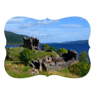 Scenic Urquhart Castle Ruins Card