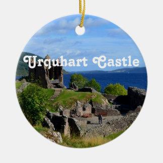 Scenic Urquhart Castle Ruins Ceramic Ornament