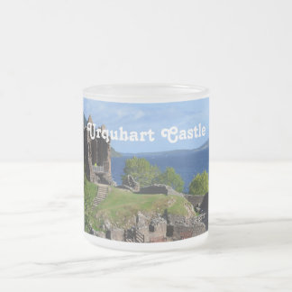 Scenic Urquhart Castle Ruins Frosted Glass Coffee Mug