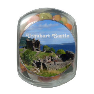 Scenic Urquhart Castle Ruins Jelly Belly Candy Jars