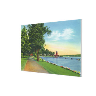 Scenic View along the Lake Canvas Print