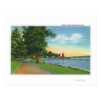 Scenic View along the Lake Postcard