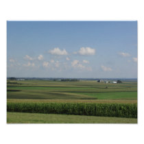Scenic View of an Amish Farm in Wisconsin Poster