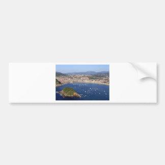 Scenic view of beautiful San Sebastian coastline Bumper Sticker